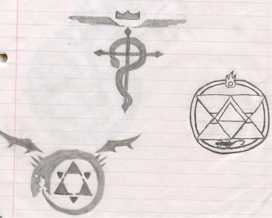 Full Metal Alchemist Symbols By Ninjamudcrab On Deviantart