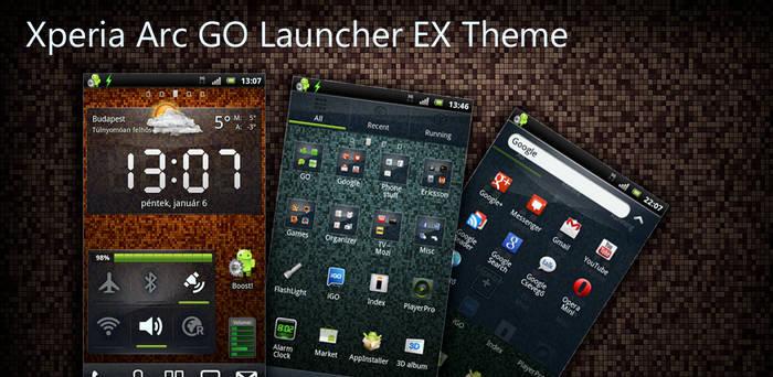 Xperia Arc Go Launcher Ex Theme - released