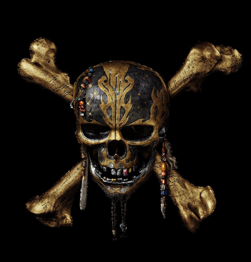Pirates of the Caribbean 5 skull logo png by mintmovi3