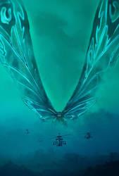 Godzilla: King of the Monsters Mothra textless by mintmovi3