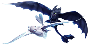 How to Train Your Dragon 3   Night_Light Fury png by mintmovi3
