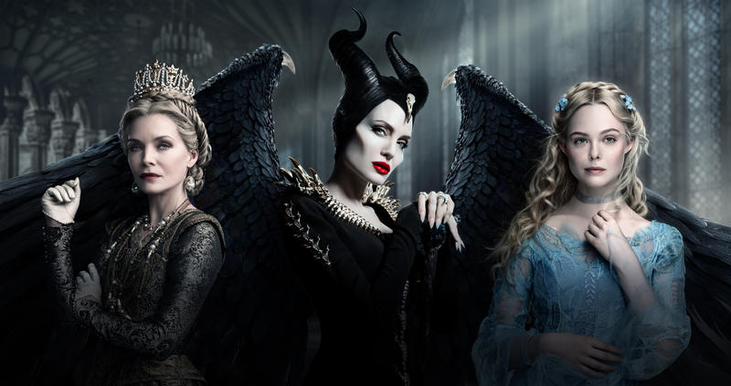 Maleficent Mistress Of Evil Triptych Textless By
