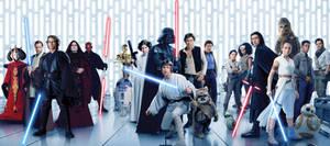 Star Wars The Skywalker saga | EW cover textless