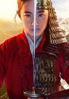 Mulan (2020) Korean poster textless