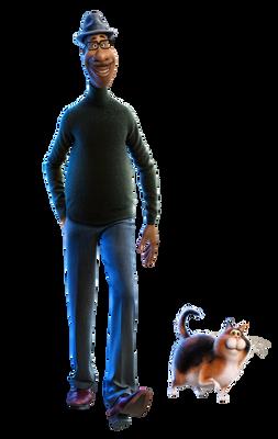 Soul (2020) Joe and Mitten png.