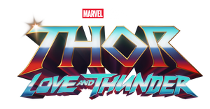 Thor Love and Thunder logo png.