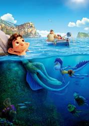 Pixar's Luca (2021) poster textless #2 Japanese