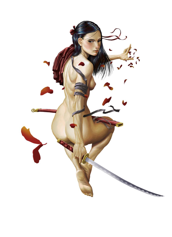 Did samurai girls nude rather valuable