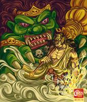 werkudoro tarung by adamTNY