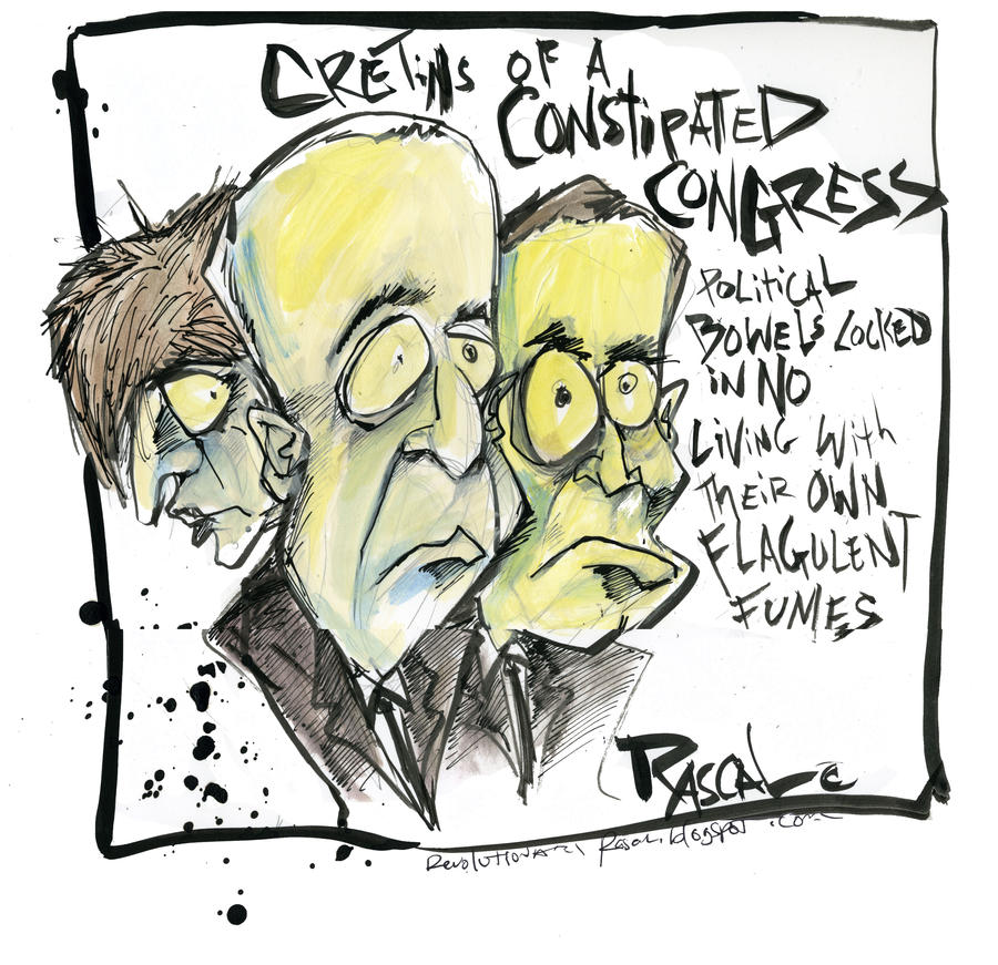 Constipated Congress by sketchoo