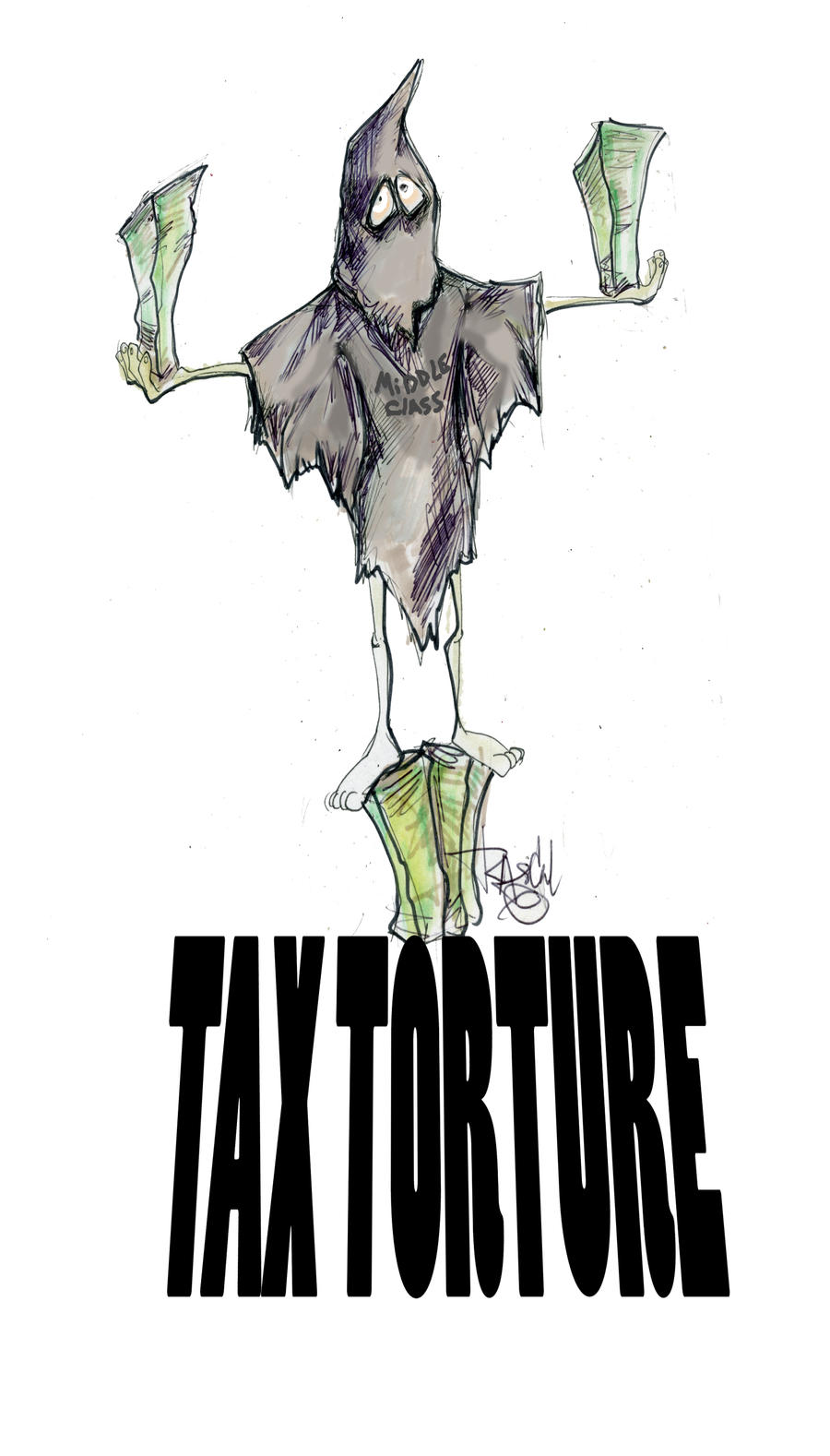 MiddleClass Tax Torture by sketchoo