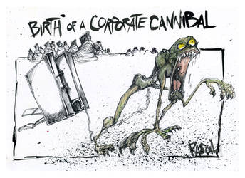 birth of a corporate cannibal by sketchoo