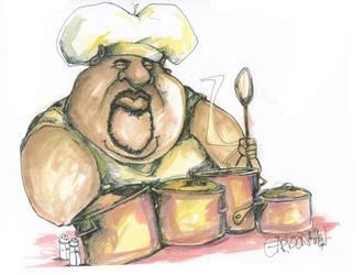 Soul Food Chef by sketchoo