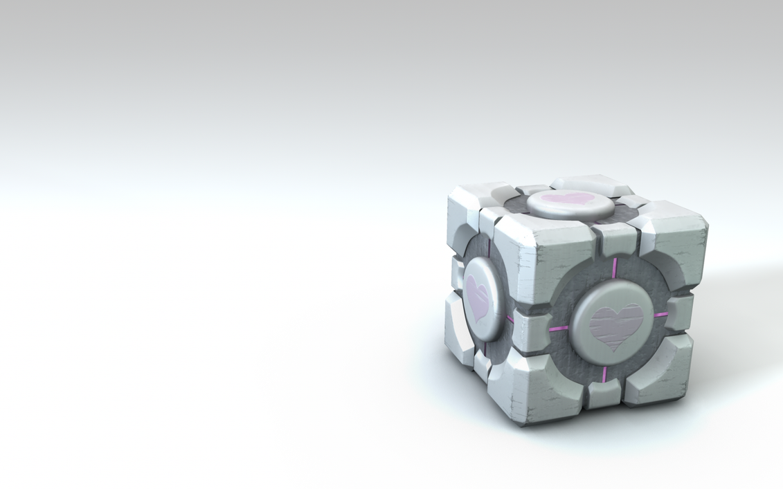 Weighted Companion Cube Wall by Caravaggio