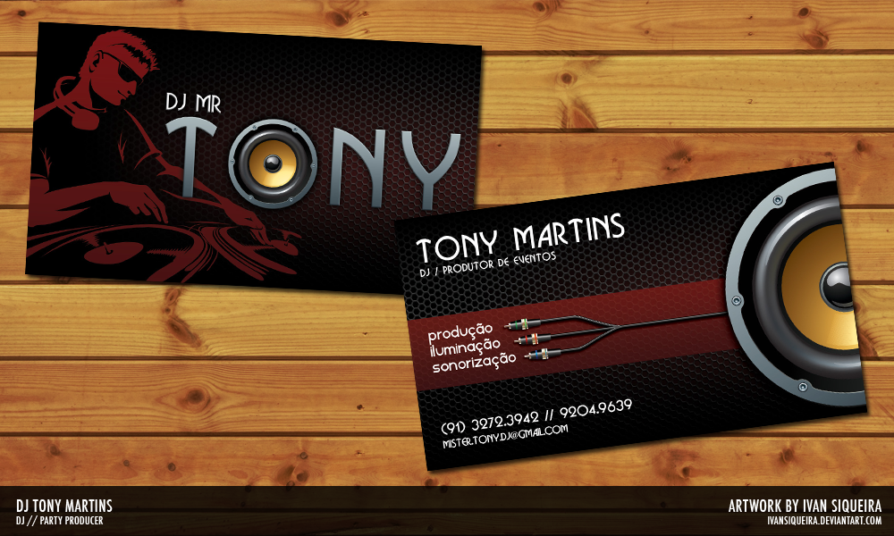 Dj Mr Tony Business Card