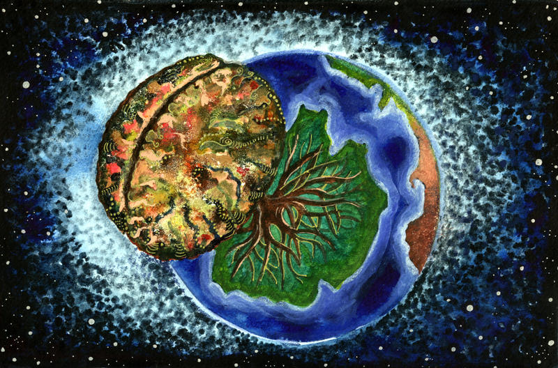 Brain Tree World by amyhooton