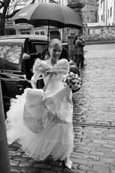 Wet winter wedding