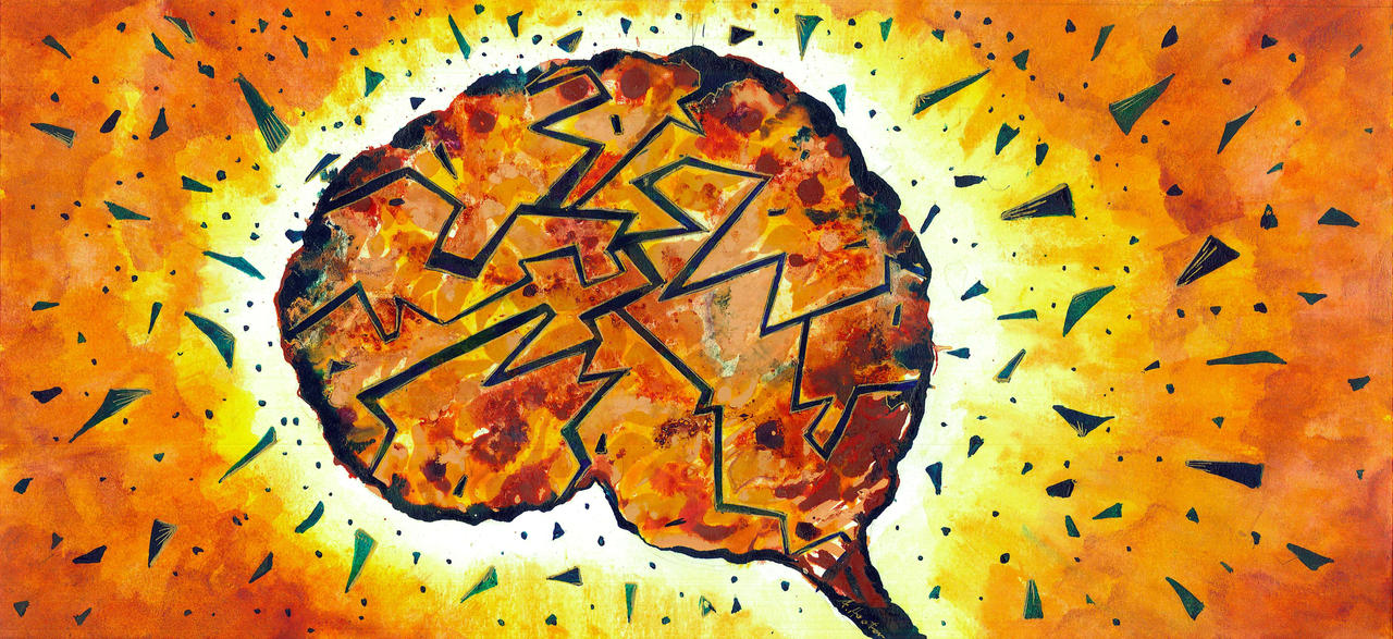 Brain Explosion by amyhooton