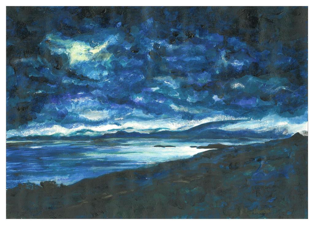 Sound of Jura nightscape