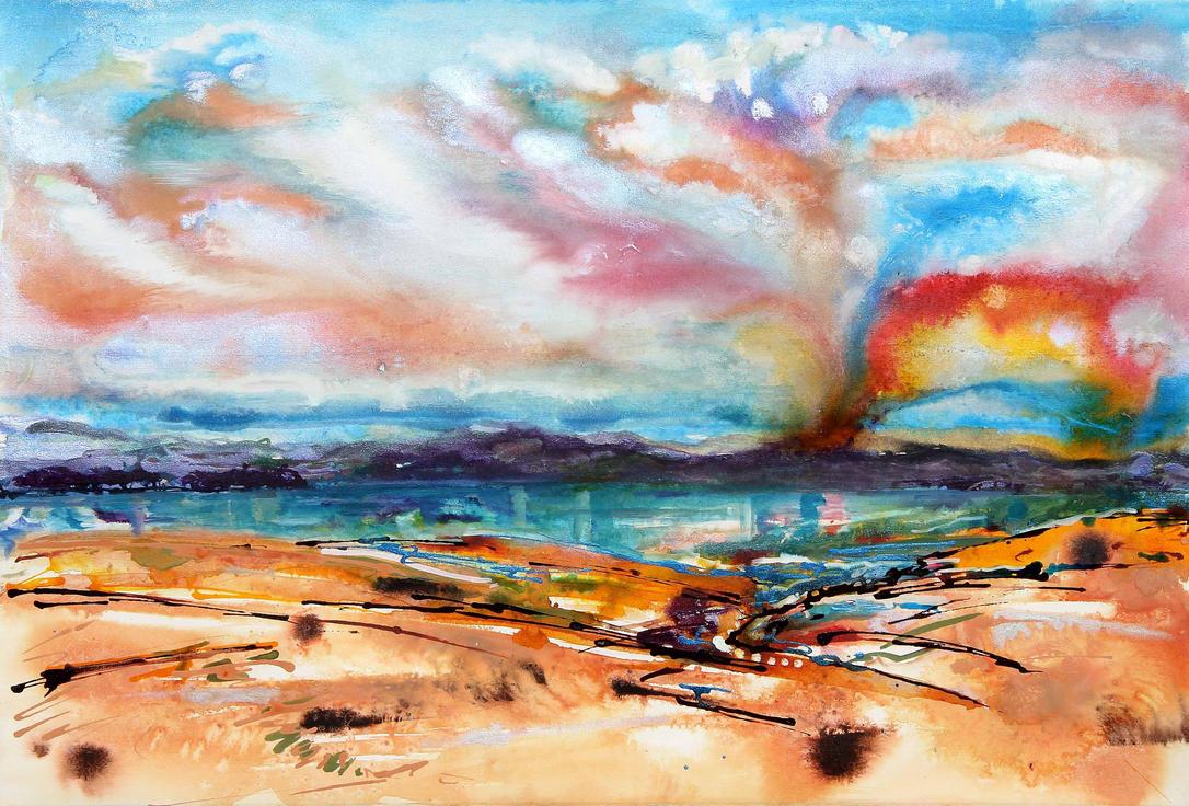 Rainbow eruption by amyhooton