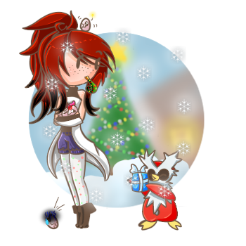 Happy hal-- holidays! by NyAzuraTheFoxgong