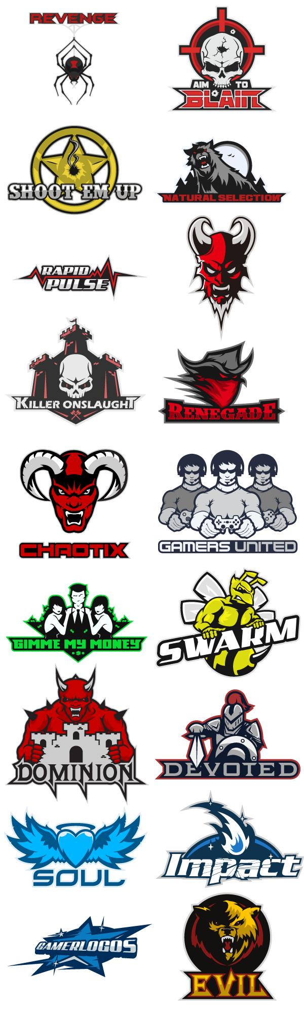 Mlg Team Logos Team Logo Wall 3 by
