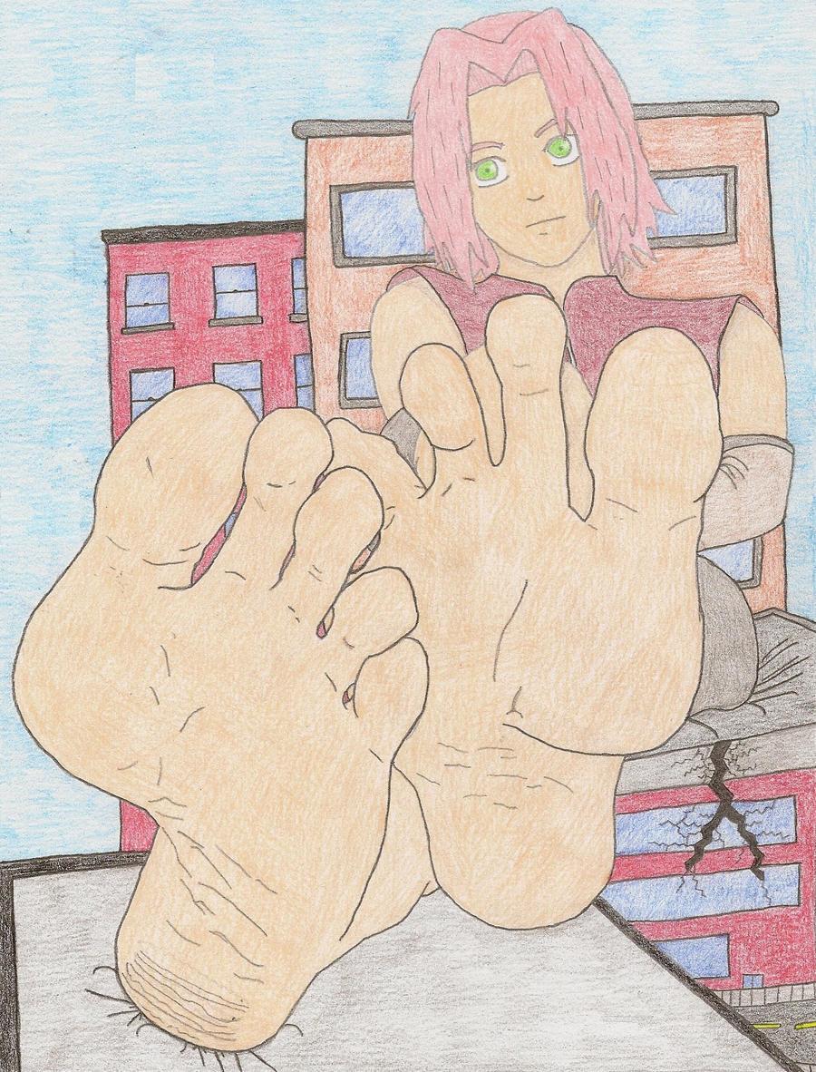 Giantess Sakura by XxSumRaNdOmGuYxX