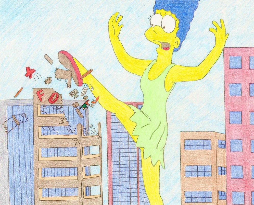 Giantess Marge Take That FOX 2 by XxSumRaNdOmGuYxX
