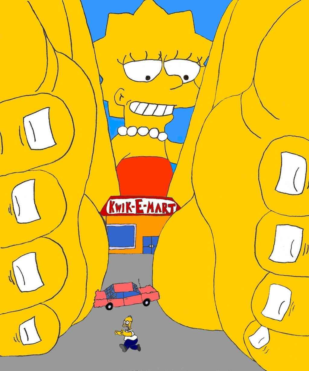 Giantess Lisa Simpson-MS Paint by XxSumRaNdOmGuYxX