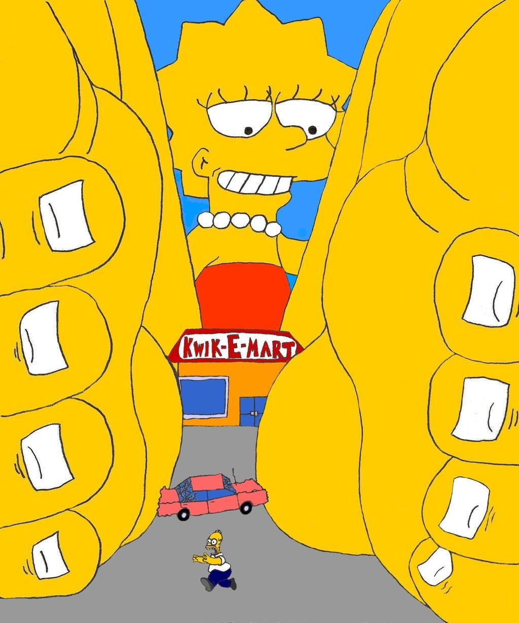 Giantess Lisa Simpson-MS Paint by XxSumRaNdOmGuYxX