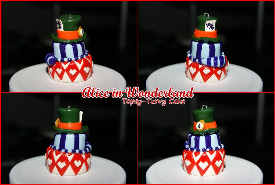 Alice in Wonderland Topsy Turvy Cake Alice in Wonderland Topsy Turvy Cake Charm by Dtap07