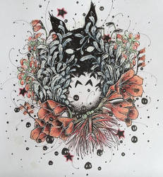 Totoro Amongst the Flowers