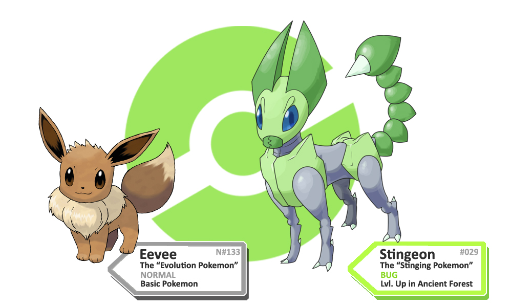 Fakemon: Stingeon (Bug Eeveelution) by KillerCubivore on ...