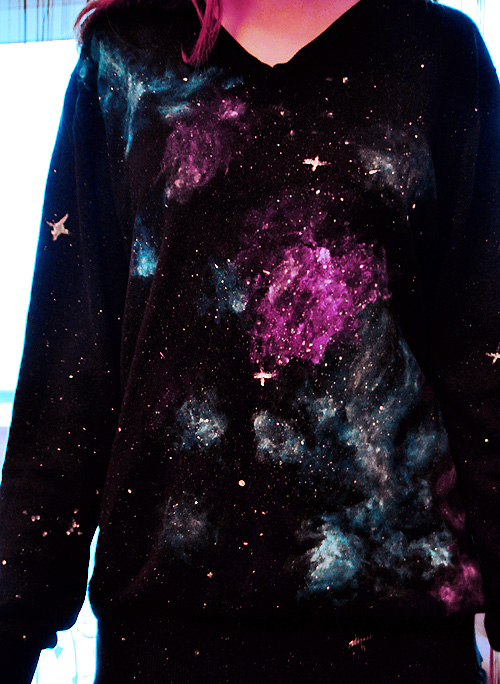 galaxy sweatshirt by Haszynka