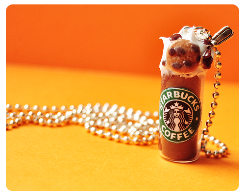 Necklaces Starbucks by Haszynka