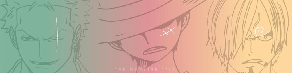 One Piece: The Monster Trio - Luffy, Zoro, Sanji by Fla29