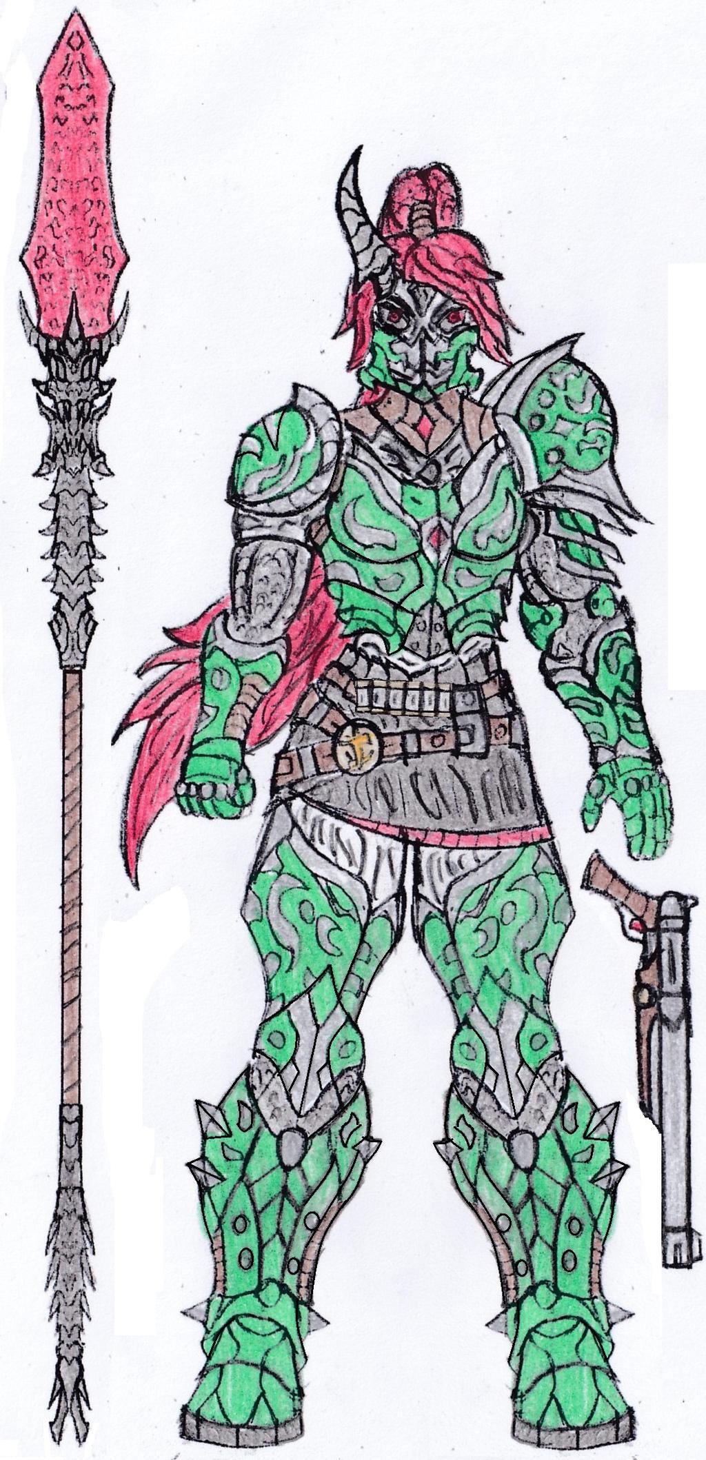 Doom Eternal Pyrrha Marauder By Saramus01 On Deviantart
