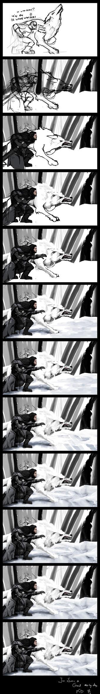 Jon Snow (step by step) by the0Herbalist