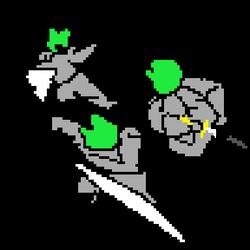 frog has sword