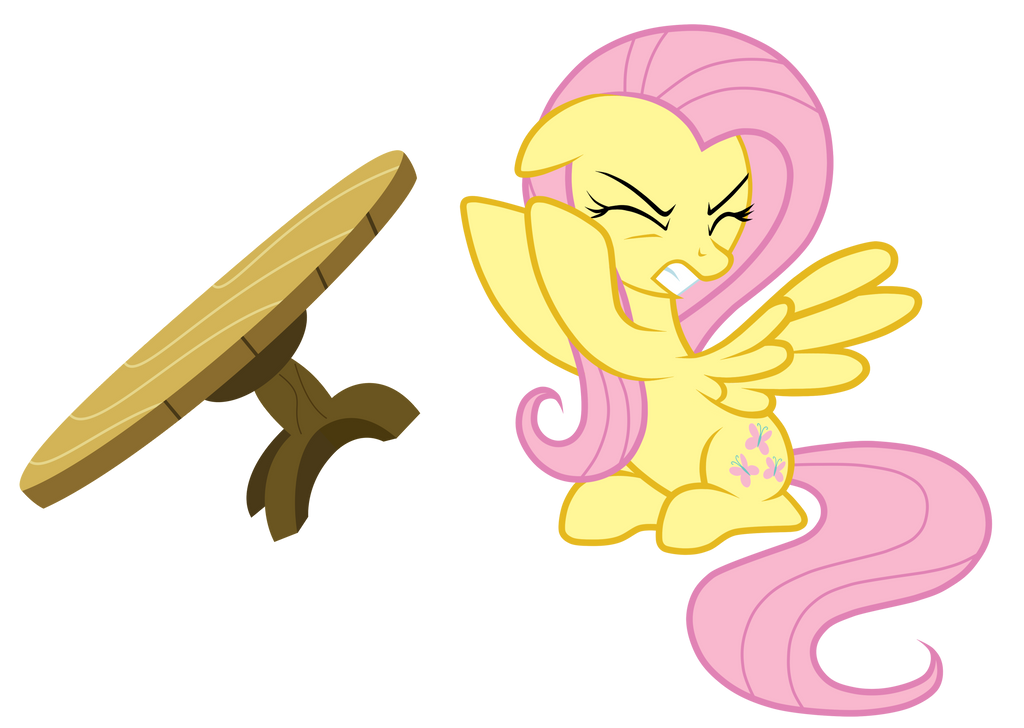 Flip The Table fluttershy table flipjunkiesnewb on deviantart