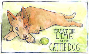 Lime in the Cattle Dog by clickclackcat