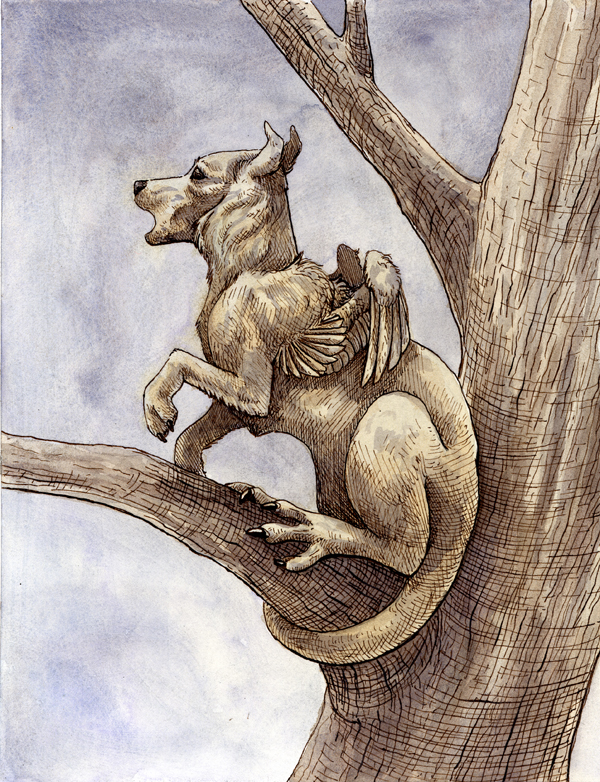 Forgotten Bestiary: Drekavac by sparkynekomi