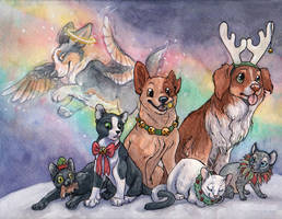 Christmas Card 2012 by clickclackcat
