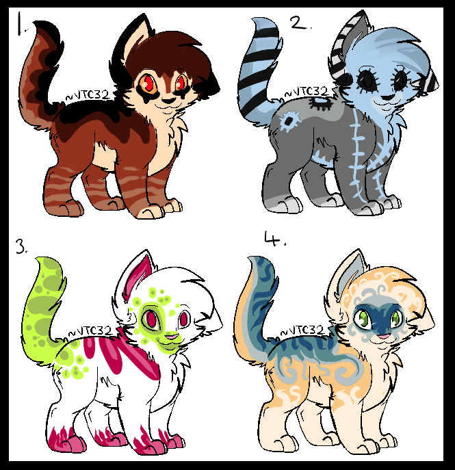 (Cat/Kitty) AUCTION ADOPTS 4 POINTS START (OPEN) by Arklen
