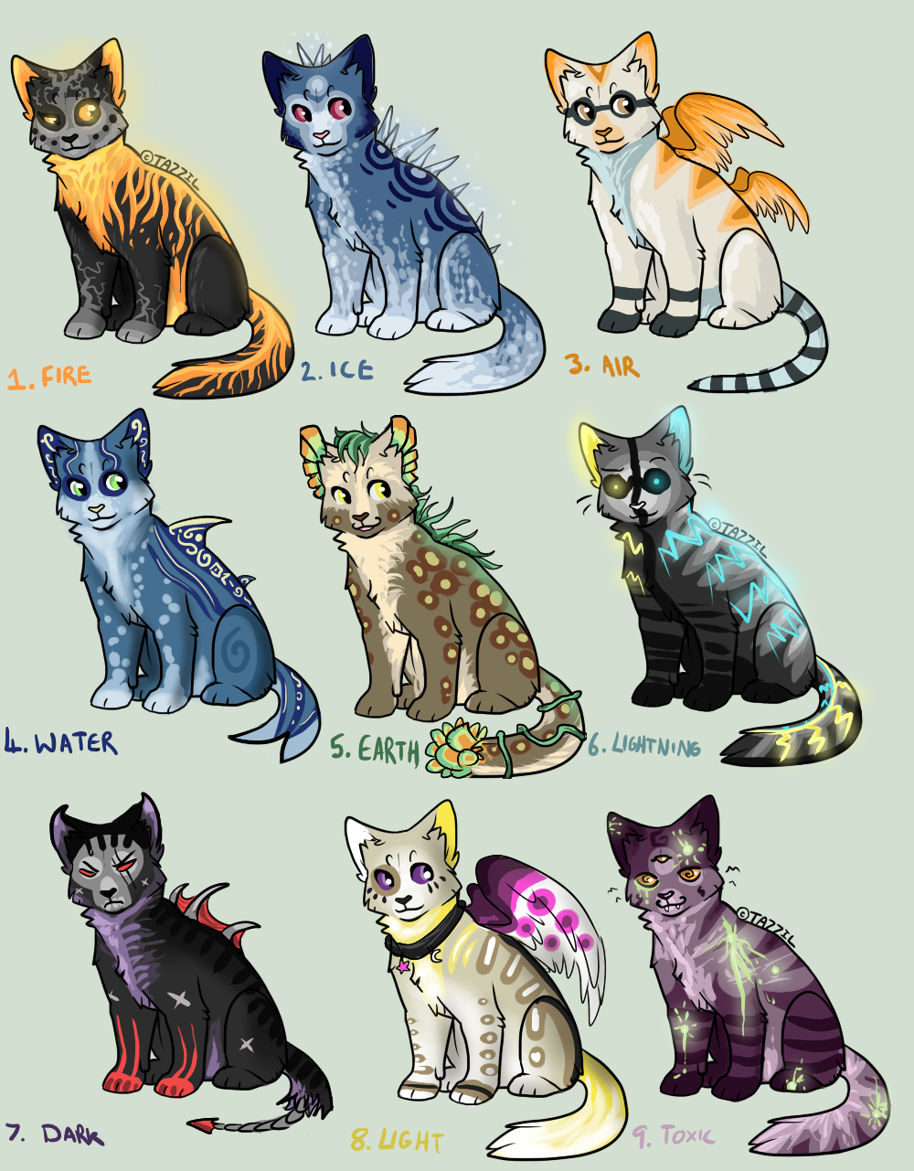 Elemental cat Auction! 5 POINTS START (OPEN) by Arklen on ...