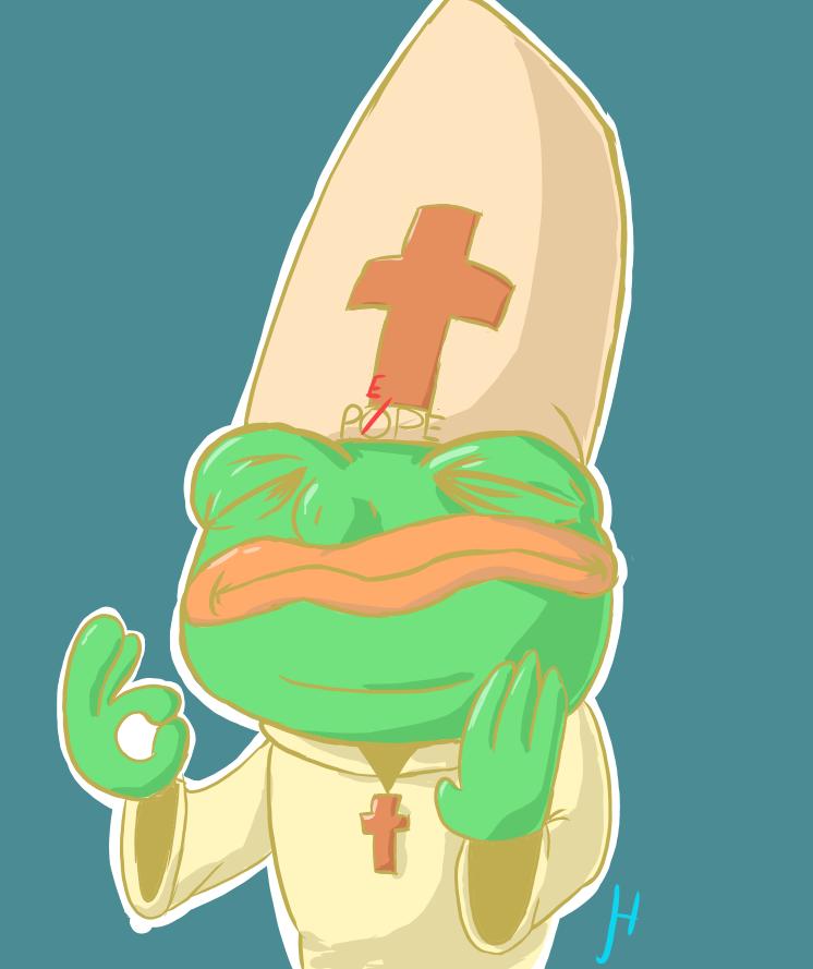 Pope Pepe by MrHappiDappi