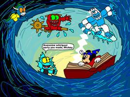 Water Skylanders in Mickey's Whirlpool