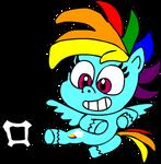 Pony Life Rainbow Dash doing P.E.