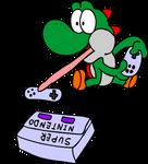 Yoshi with the Super Nintendo