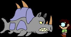 Lisa Loud vs the Sea Rhinoceros
